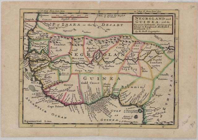 Carte du Golfe de Benin et partie de la Côte de Guinée, depuis la Riv. de Volta jusquáu C. Formosa: dressée sur les Journ. des navigat