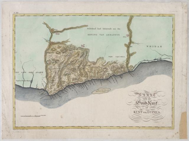 Kaart van de Goud-Kust of Kust van Guinea