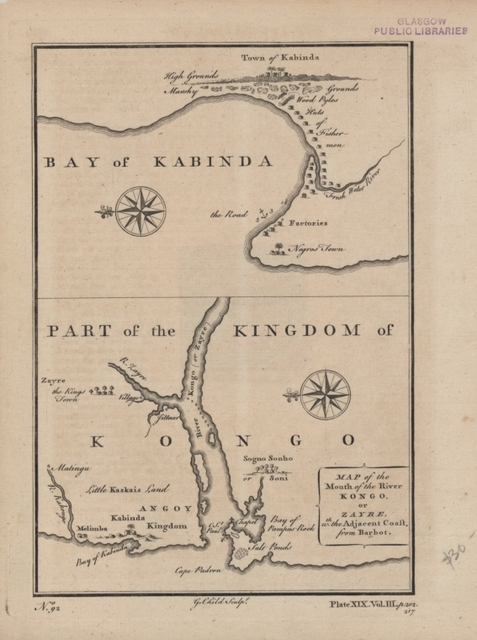 Map of the mouth of the River Kongo or Zayre, with the adjacent coast