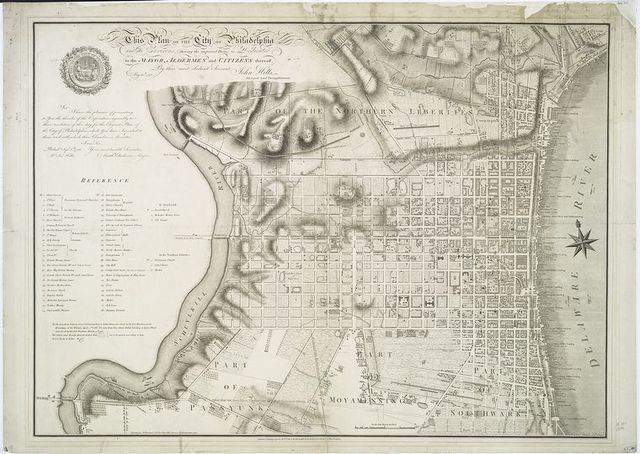 The plan of the city of Philadelphia and it's environs (shewing the improved parts,)....