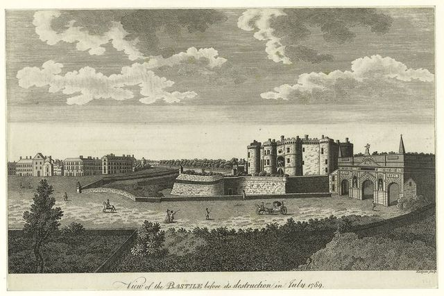 View of the Bastile beofre its destruction in July 1789