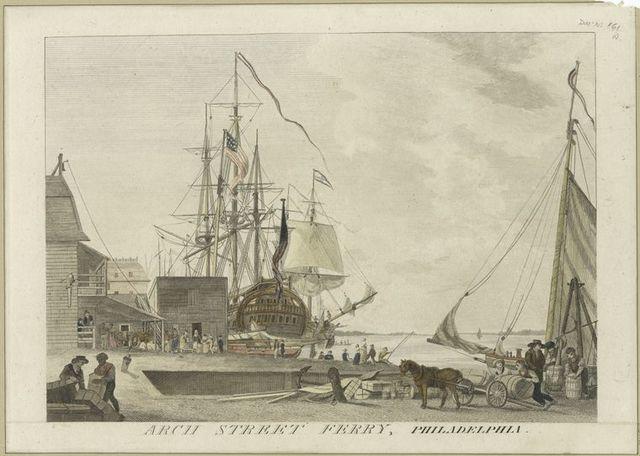 Arch Street Ferry, Philadelphia.