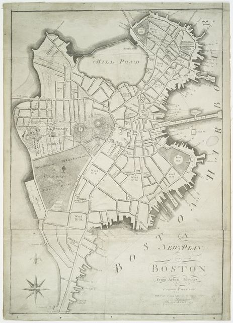 A new plan of Boston from actual surveys