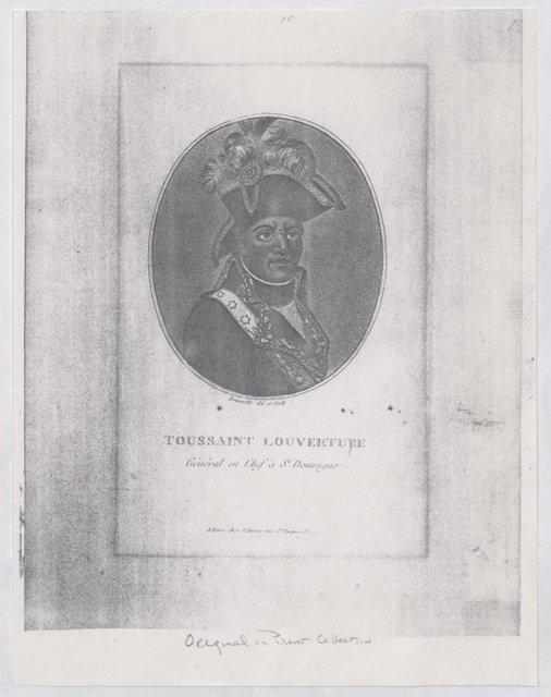 Engraved Portrait of Toussaint Louverture