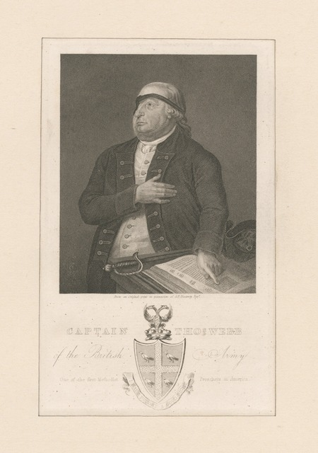 Captain Thos. Webb of the British Army One of the first Methodist Preachers in America