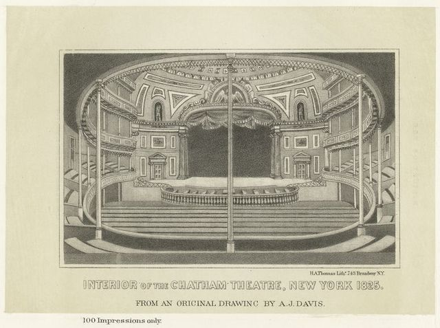 Interior of the Chatham Theatre, New York 1825