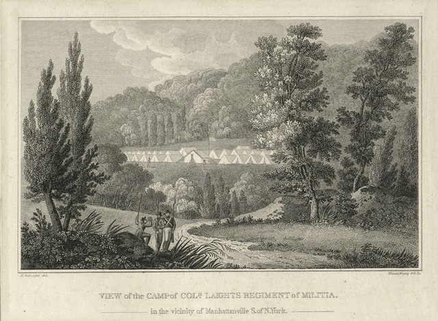 View of the Camp of Coln. Laights Regiment of Militia in the Vicinity of Manhattanville S. of N. York