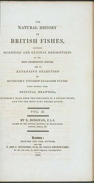 The natural history of British fishes, Vol. 2, [Title page]