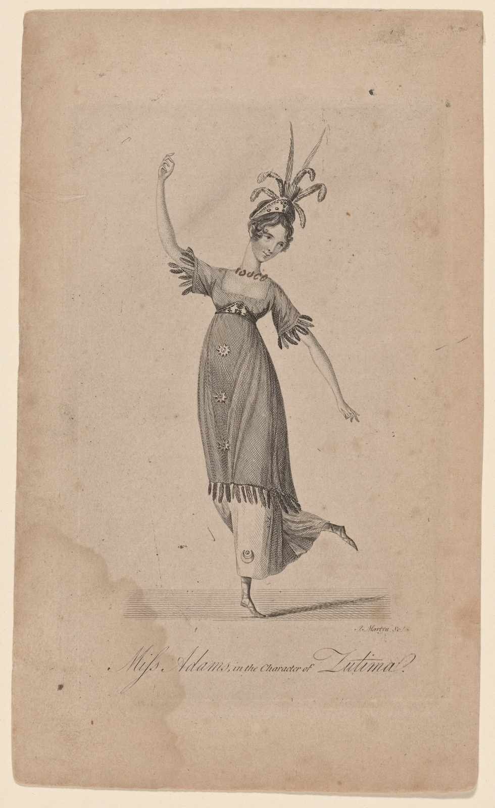 Miss Adams in the character of Zulima in the grand ballet dance of Zelico.