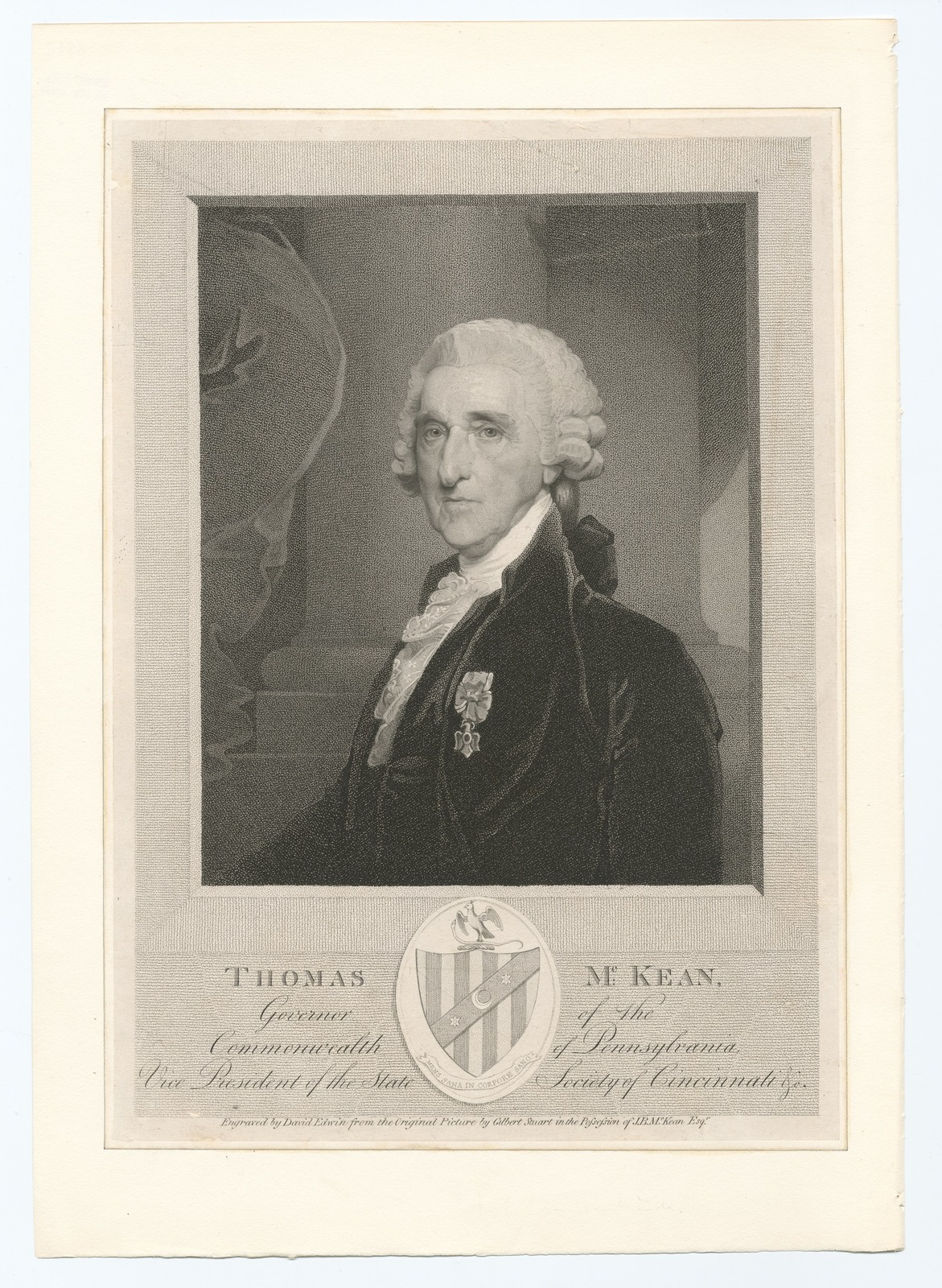 Thomas McKean, Governer of the Commonwealth of Pennsylvania, vice president of the State Society of Cincinnati etc.