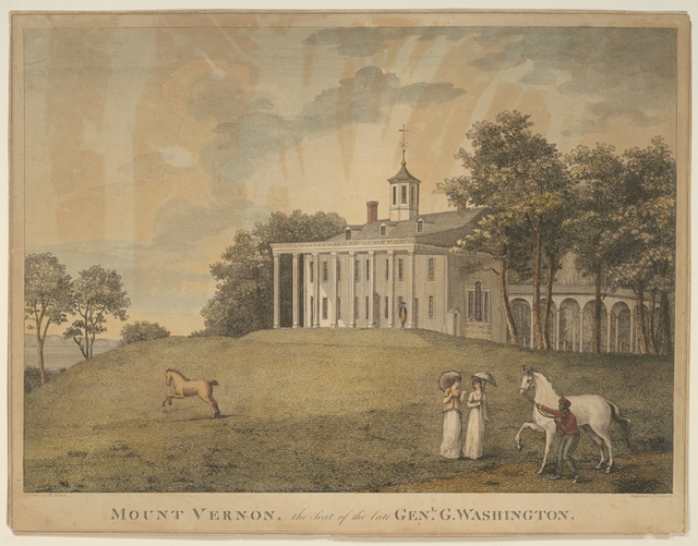 Mount Vernon, the seat of the late Genl. G. Washington.