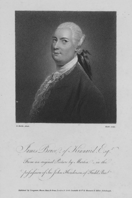 James Bruce of Kinnaird, Esq. From an original picture by Martin in the possession of Sir John Henderson of Fordel Bar't.