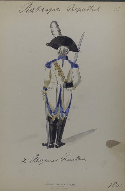 Bataafsche Republiek. 2e [Tweed] Regiment Cavalerie.
