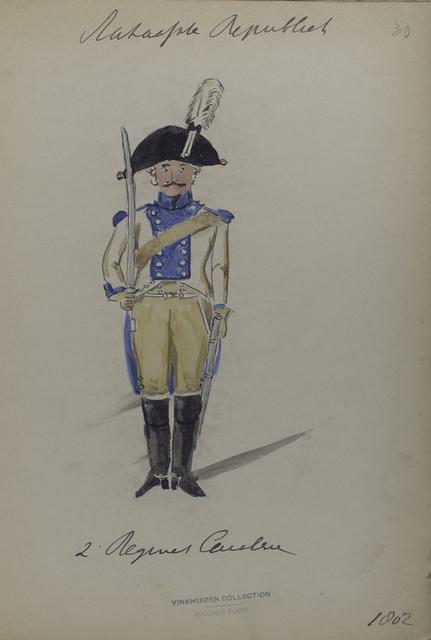 Bataafsche Republiek. 2e [Tweede] Regiment Cavalerie.
