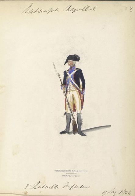 Bataafsche Republiek. 3 Bataillon Infanterie. 9 Aug., 1804