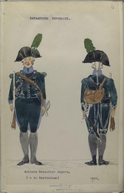 Bataafsche Republiek. Achtste Bataillon Jagers. (in de Westindien).