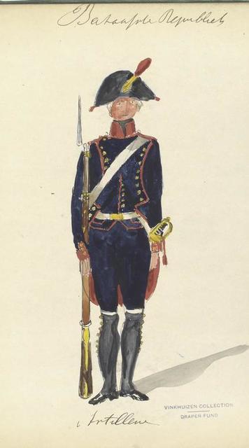 Bataafsche Republiek. Artillerie. 1805