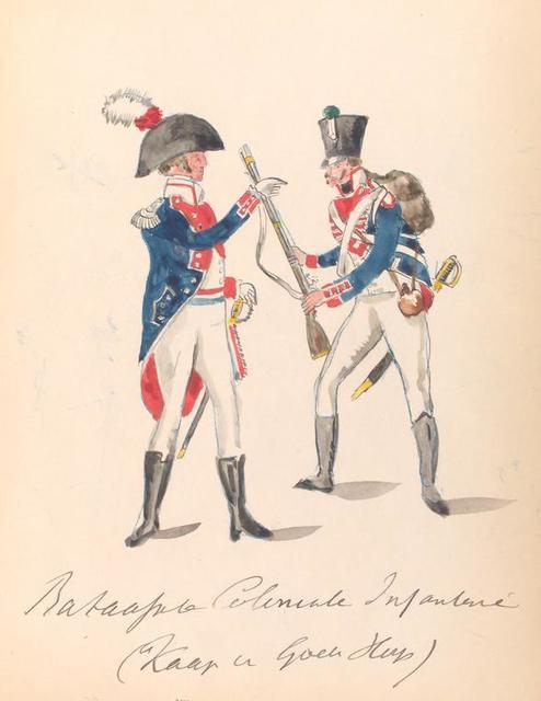 Bataafsche Republiek. Bataafsche Coloniale Infanterie (Kaap van Goeth Hoop?). 1806