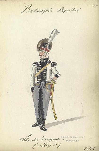 Bataafsche Republiek. Dragonder (1-t Regiment). 1805