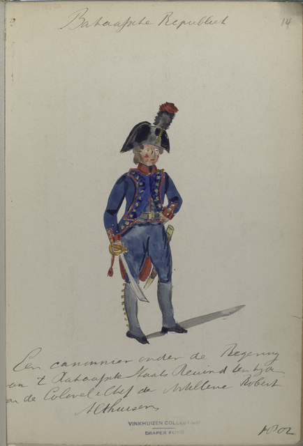 Bataafsche Republiek. Een canonnier onder de Regering van t [...] Staats Re...  [...] van de Colonel e Chef der Artillerie Robert Althuizen.