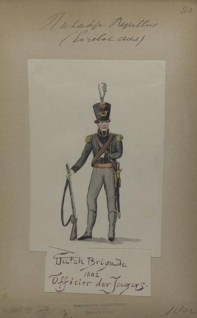 Bataafsche Republiek. (Engeland dienst). Dutch Brigade. Officier der Jagers.