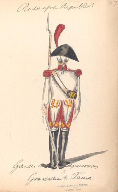 Bataafsche Republiek. Garde van de Roodp..., Grenadier te Paard.