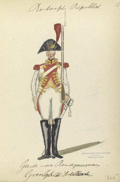 Bataafsche Republiek. Garde van der Roodp[...],  Grenadier te Paard. 1805