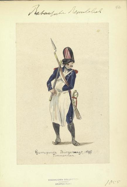 Bataafsche Republiek. Gewapende Burgermagt. Timmerman. 1805
