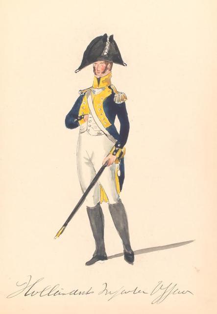 Bataafsche Republiek. Hollandsche Infanterie Officier. 1806