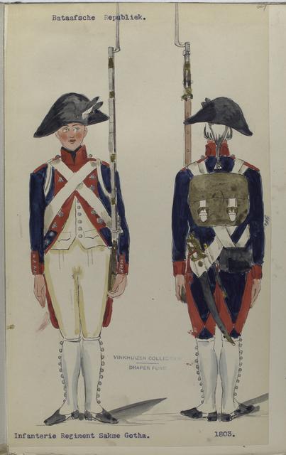 Bataafsche Republiek. Infanterie Regiment Sakse Gotha.