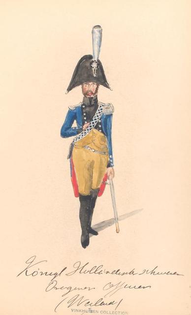 Bataafsche Republiek. Konigl. Hollandsche schweren Dragoner Officier (Weiland). 1806