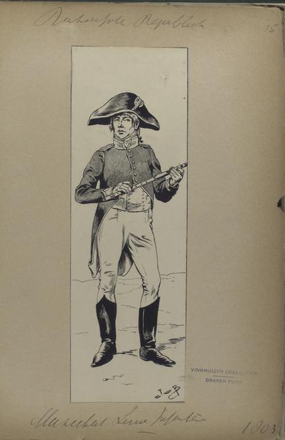 Bataafsche Republiek. Musketeer Linie Infanterie.