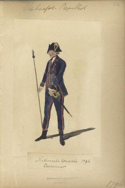 Bataafsche Republiek, Nationaal Garde 1796, Canonnier