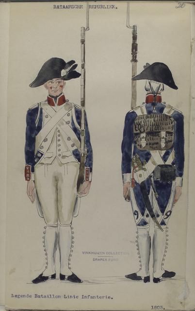 Bataafsche Republiek. Negende Bataillon Linie Infanterie.