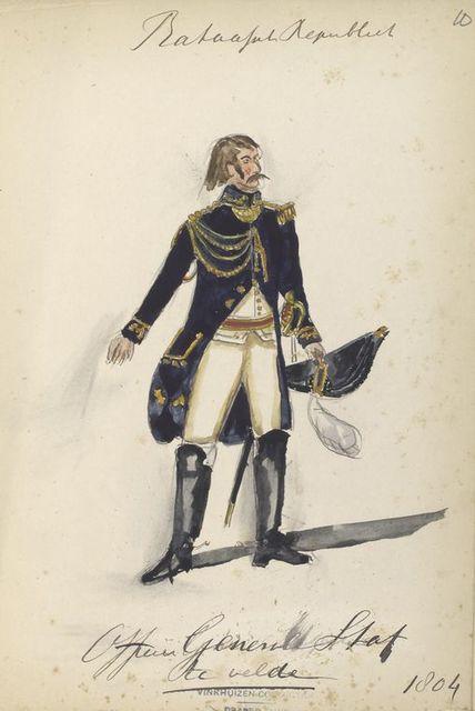 Bataafsche Republiek. Officer General Stat te velde. 1804