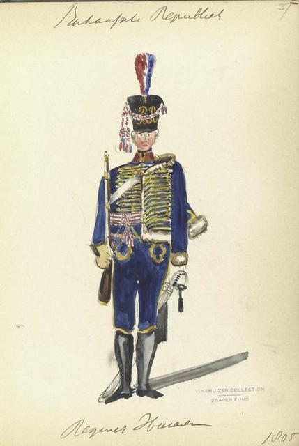 Bataafsche Republiek. Regiment Huzaren. 1805