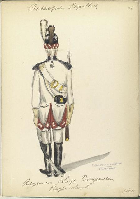 Bataafsche Republiek. Regiment Light Dragonder, Regle vleugel. 1805