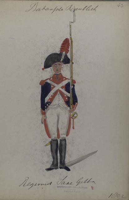 Bataafsche Republiek. Regiment Sakse Gotha.