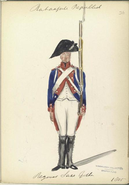 Bataafsche Republiek. Regiment Saxe Gotha. 1805