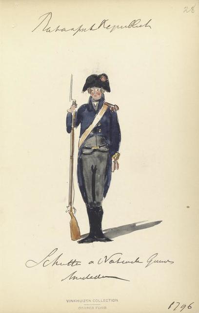 Bataafsche Republiek, Schmitte Nationaal Garde Amsterdam