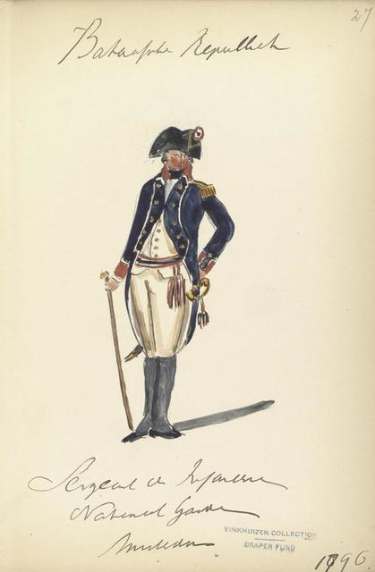 Bataafsche Republiek, Sergeant de Infanterie Nationaal Garde Amsterdam