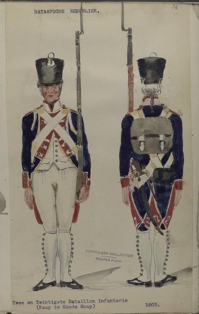 Bataafsche Republiek. Twee en Twintigste Bataillon Infanterie (Kaap de Goede Hoop).
