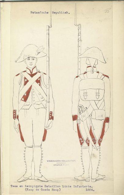 Bataafsche Republiek. Twee en twinyigste Bataillon Linie Infanterie (Kaap de Goede Hoop)  1804