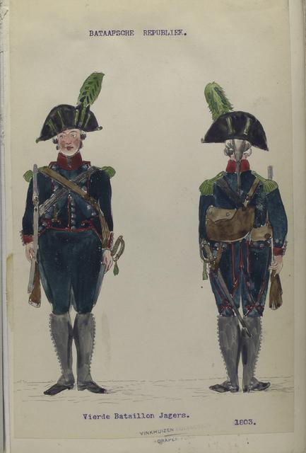 Bataafsche Republiek. Vierde Bataillon Jagers.