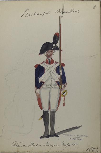 Bataafsche Republiek. Vierde Halve Brigade Infanterie.