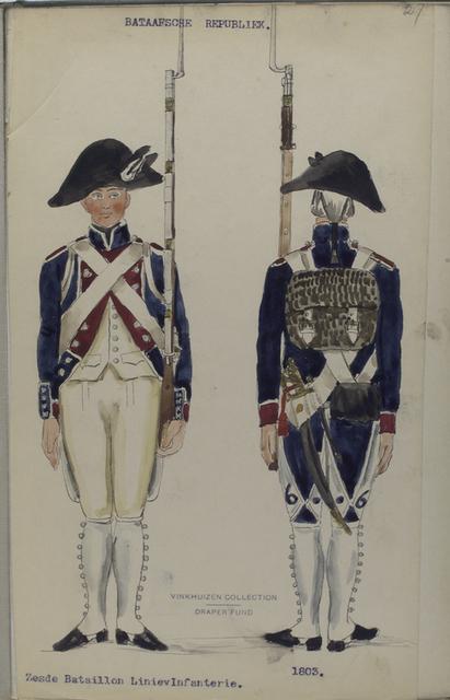 Bataafsche Republiek. Zesde Bataillon Linie Infanterie.