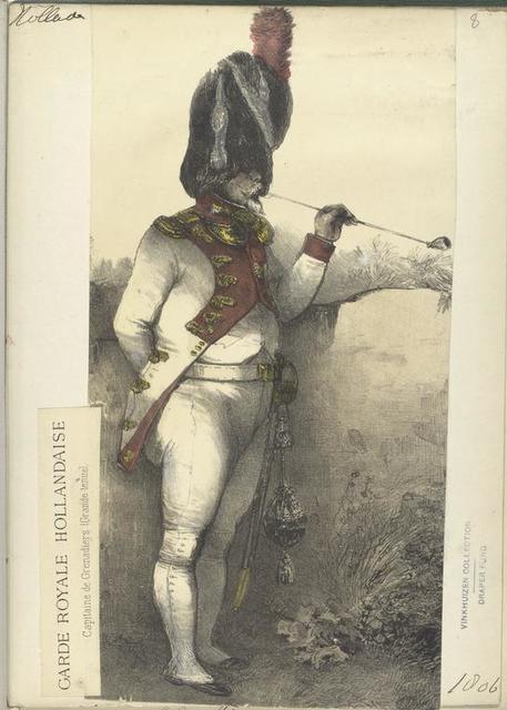 Garde Royale Hollandaise. Capitaine de Grenadiers (Grande tenue). 1806