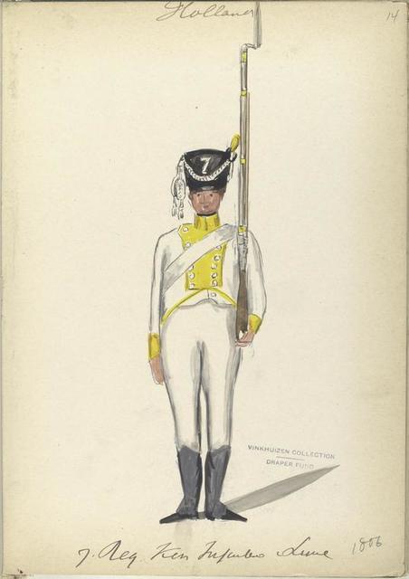 Holland. 7 Reg. Kon. Infanterie Linie. 1806