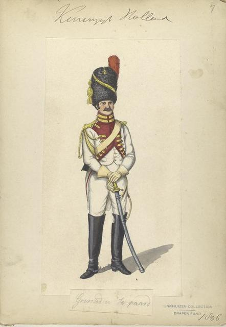 Koninklijk Holland. Grenadier te Paard.. 1806