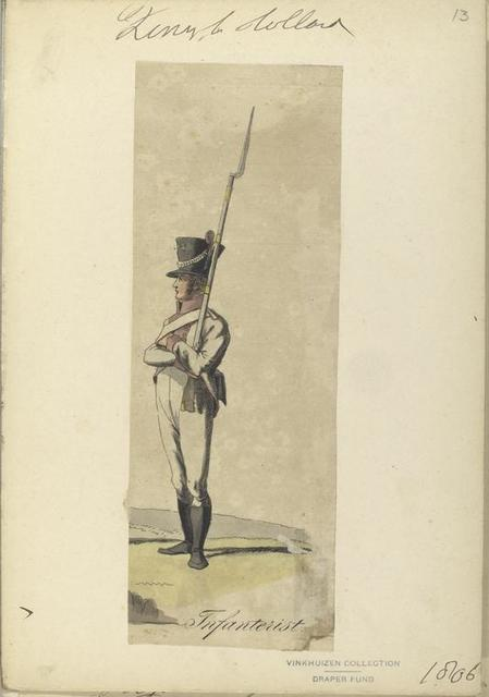 Koninklijk Holland. Infanterist. 1806